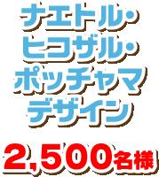 ナエトル・ヒコザル・ポッチャマデザイン 2,500名様